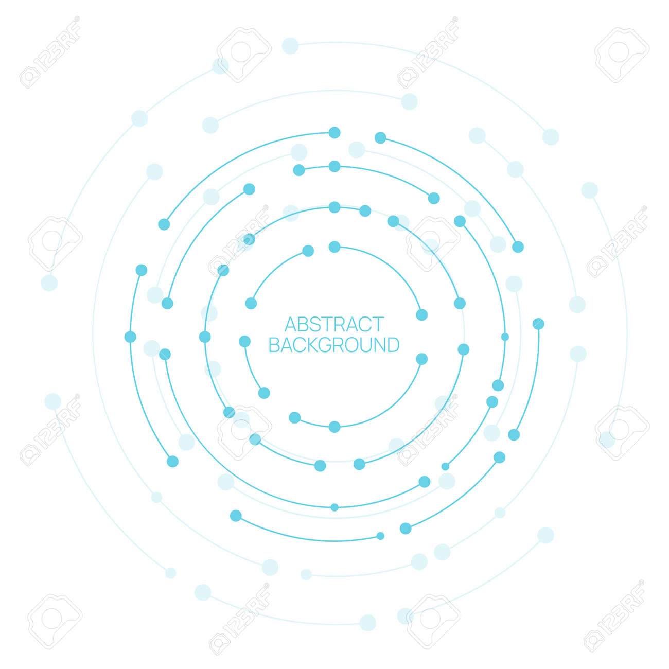 Vector abstract background with circles - 172797682