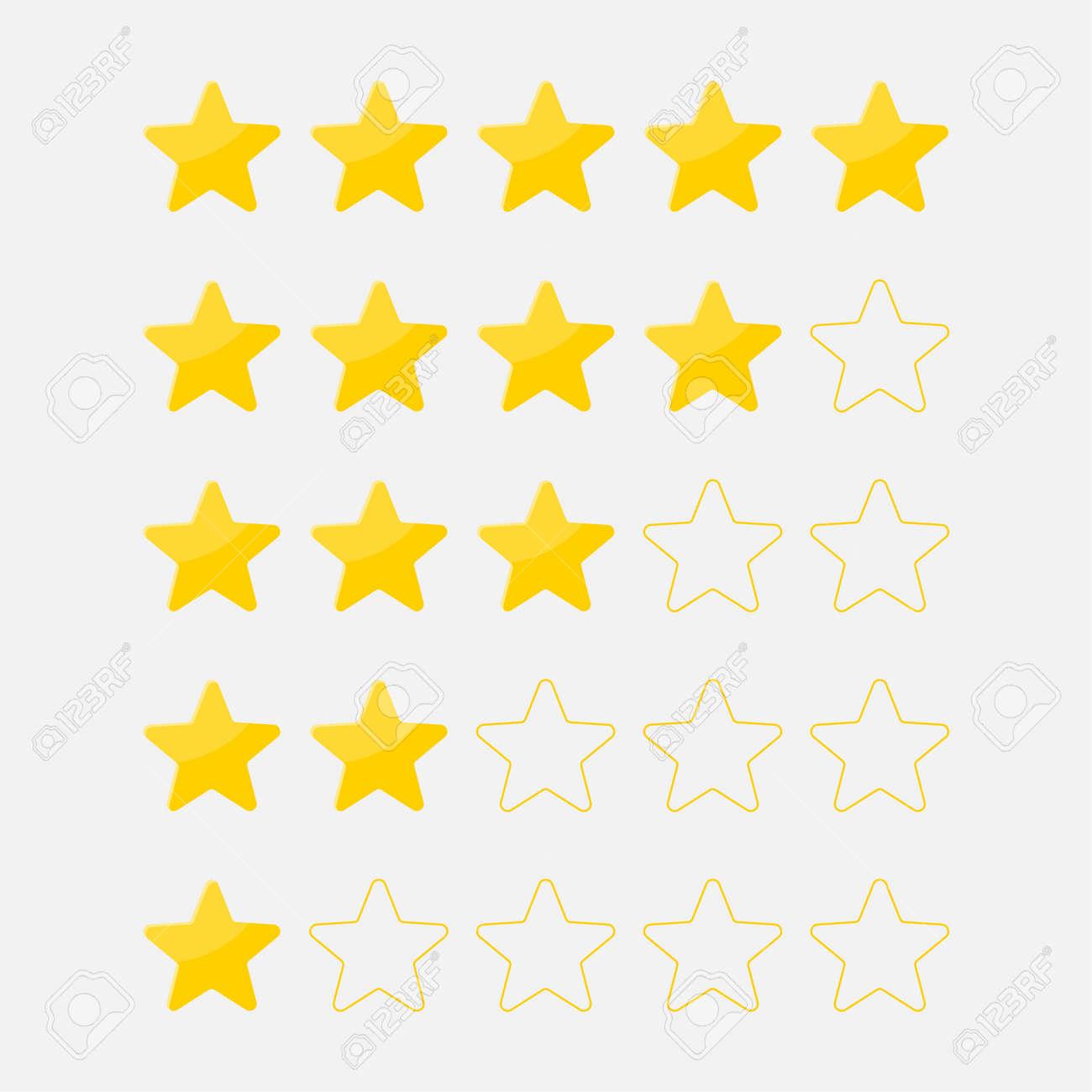 Vector set of five stars - 172797957