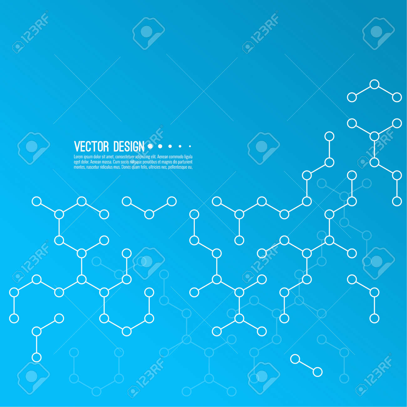 Abstract background of molecular structure. - 173122512