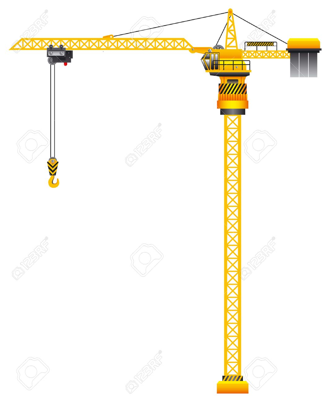 construction tower crane vector illustration royalty free cliparts