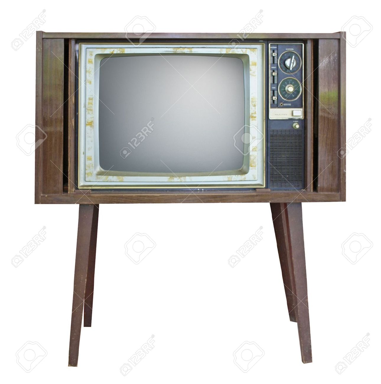 Retro style old TV Stock Photo - 8997379