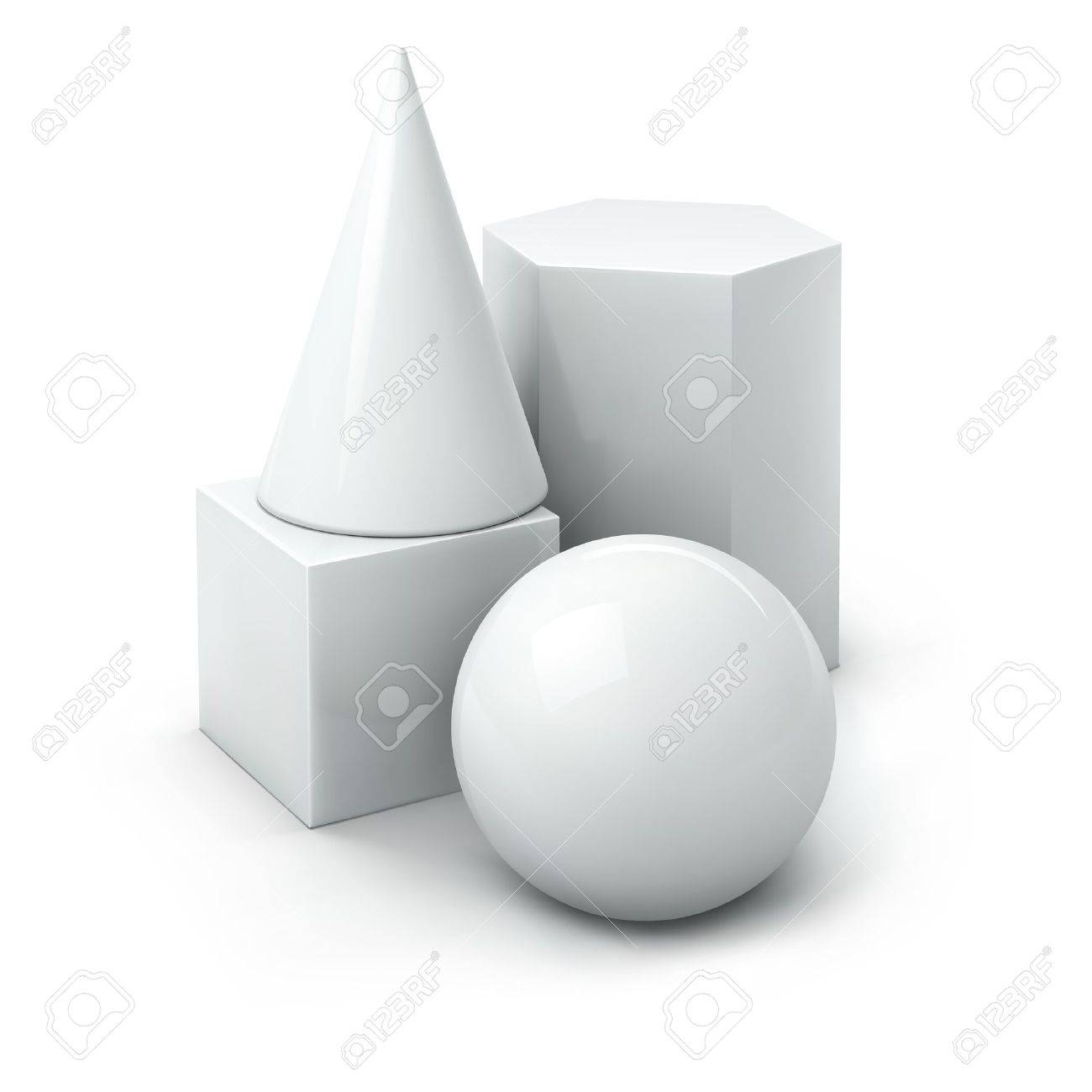 basic geometric 3d shapes Stock Vector - 9955639