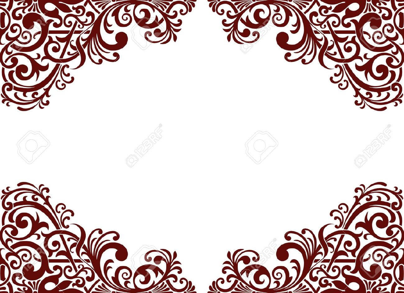 Vintage background ornate baroque pattern vector illustration stock - Vintage Baroque Border Frame Card Background Flower Motif Arabic Retro Pattern Ornate Stock Vector 14507287