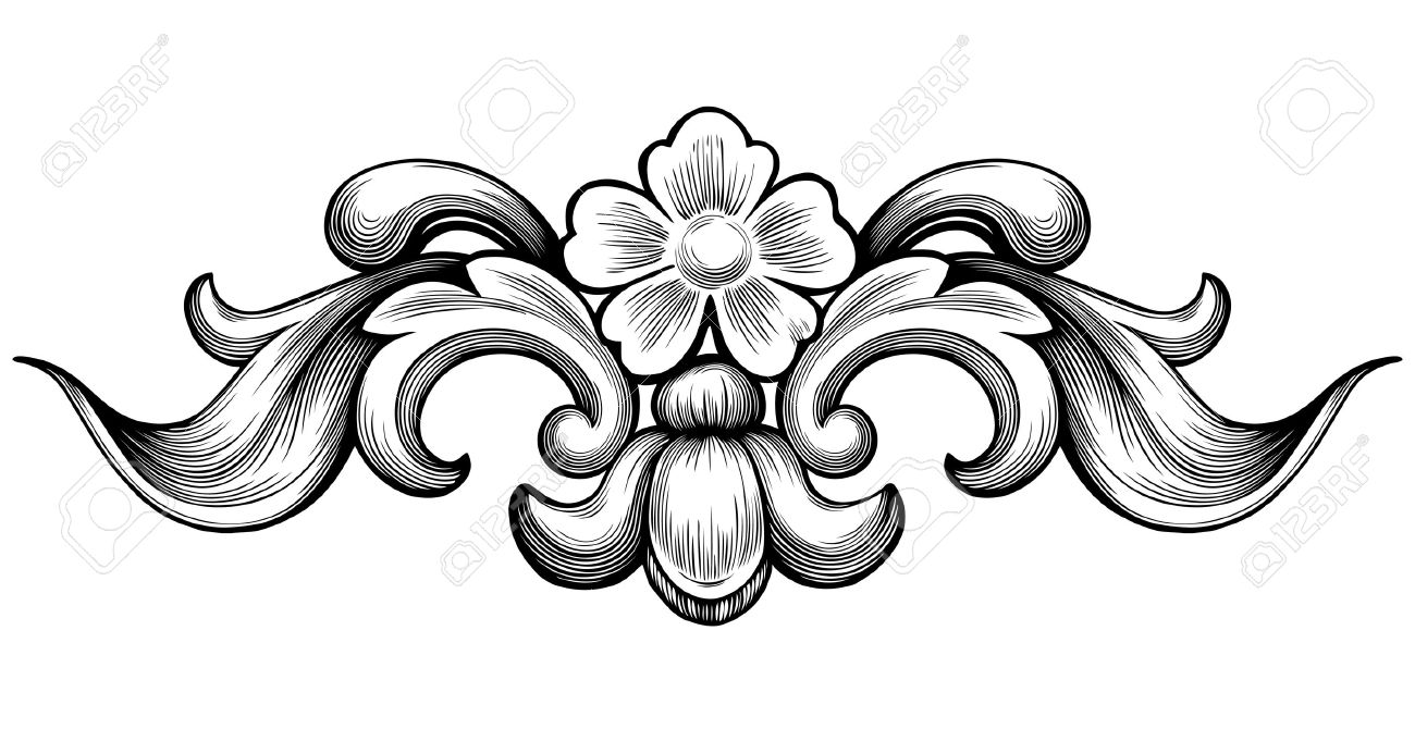 vintage baroque floral scroll foliage ornament filigree engraving rh 123rf com filigree vector corner filigree factory shop