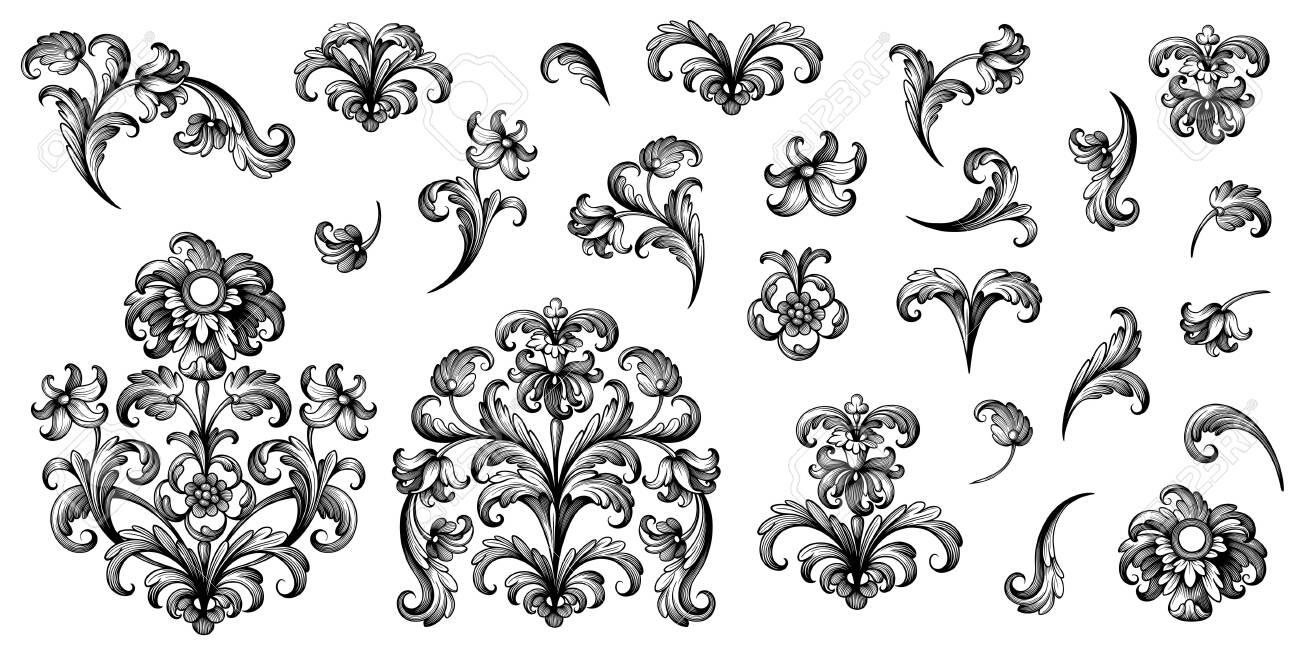vintage baroque victorian frame border floral ornament leaf scroll royalty free cliparts vectors and stock illustration image 141828664 vintage baroque victorian frame border floral ornament leaf scroll