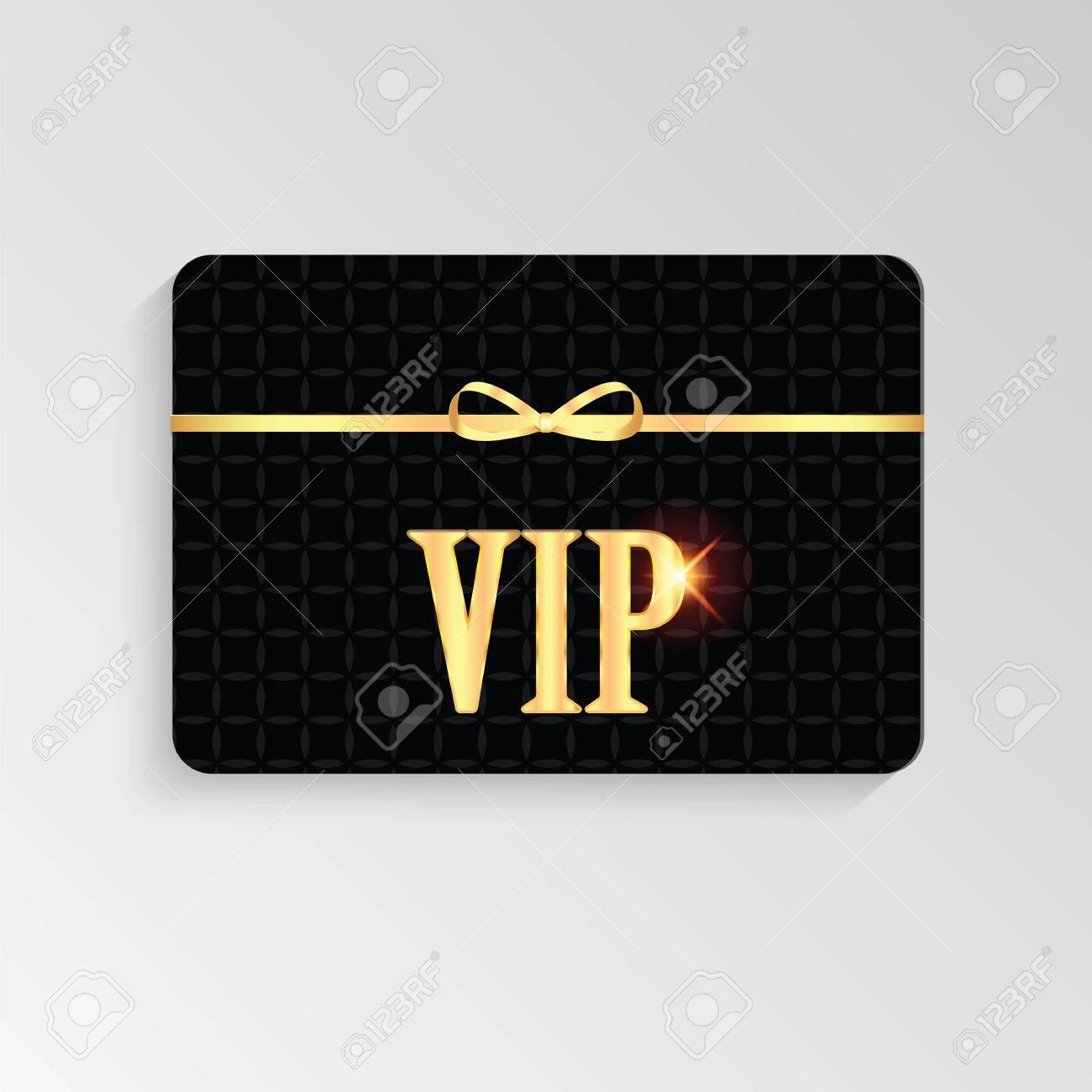 Tarjetas Vip Con Letras Doradas Y Invitación Vip Tarjeta Vip
