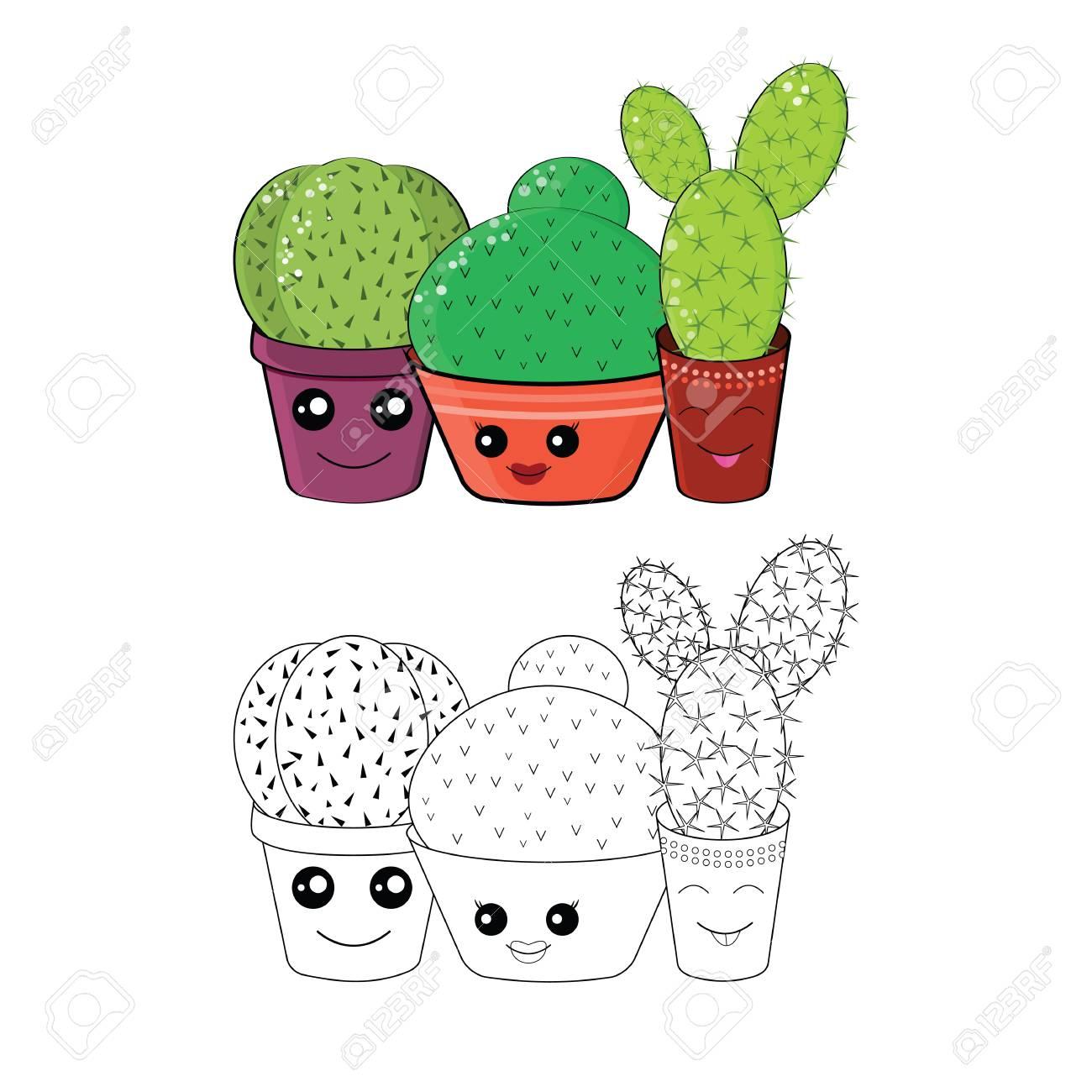 Kostenlose Malvorlage Kaktus Coloring And Malvorlagan
