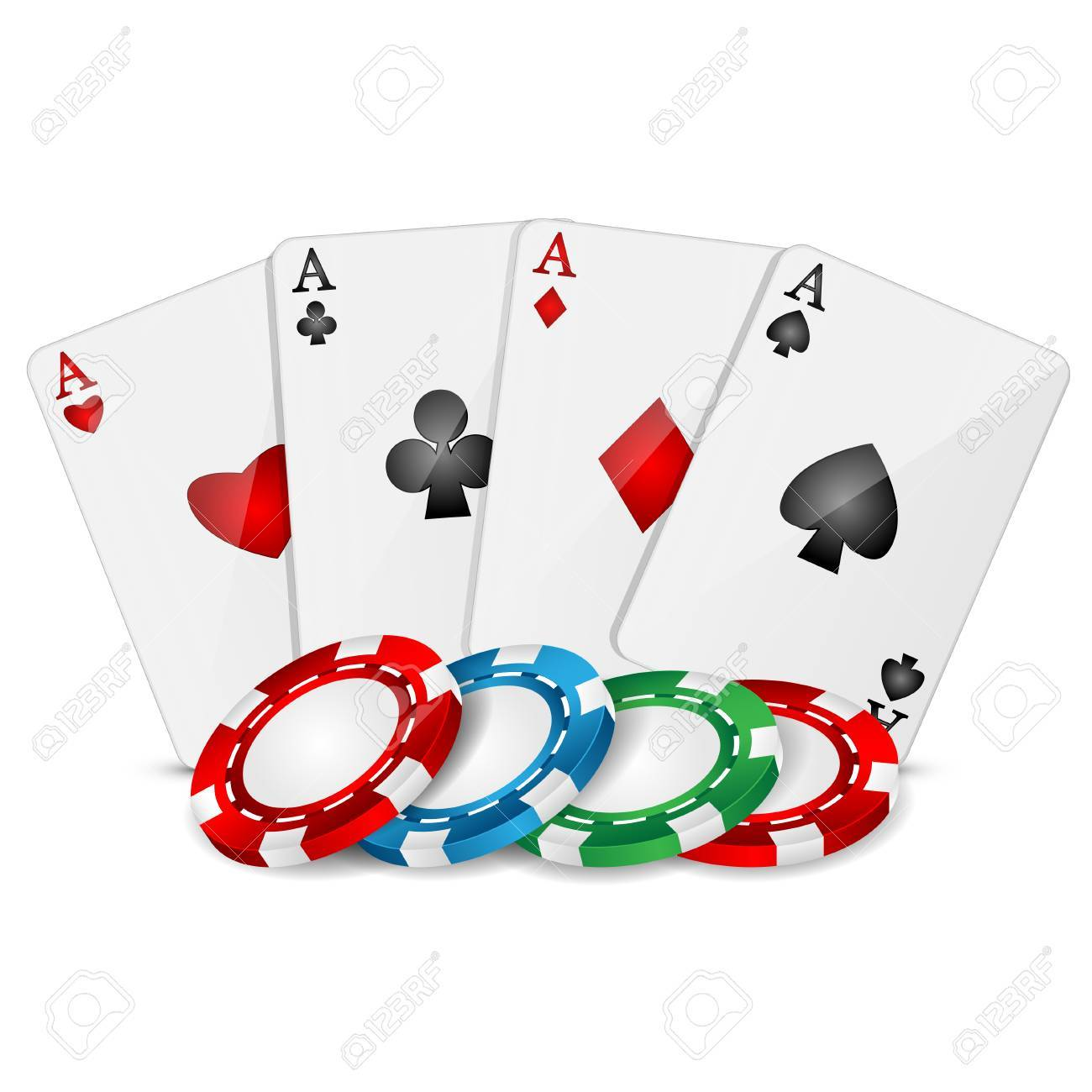 Poker chips cards roulette player professional