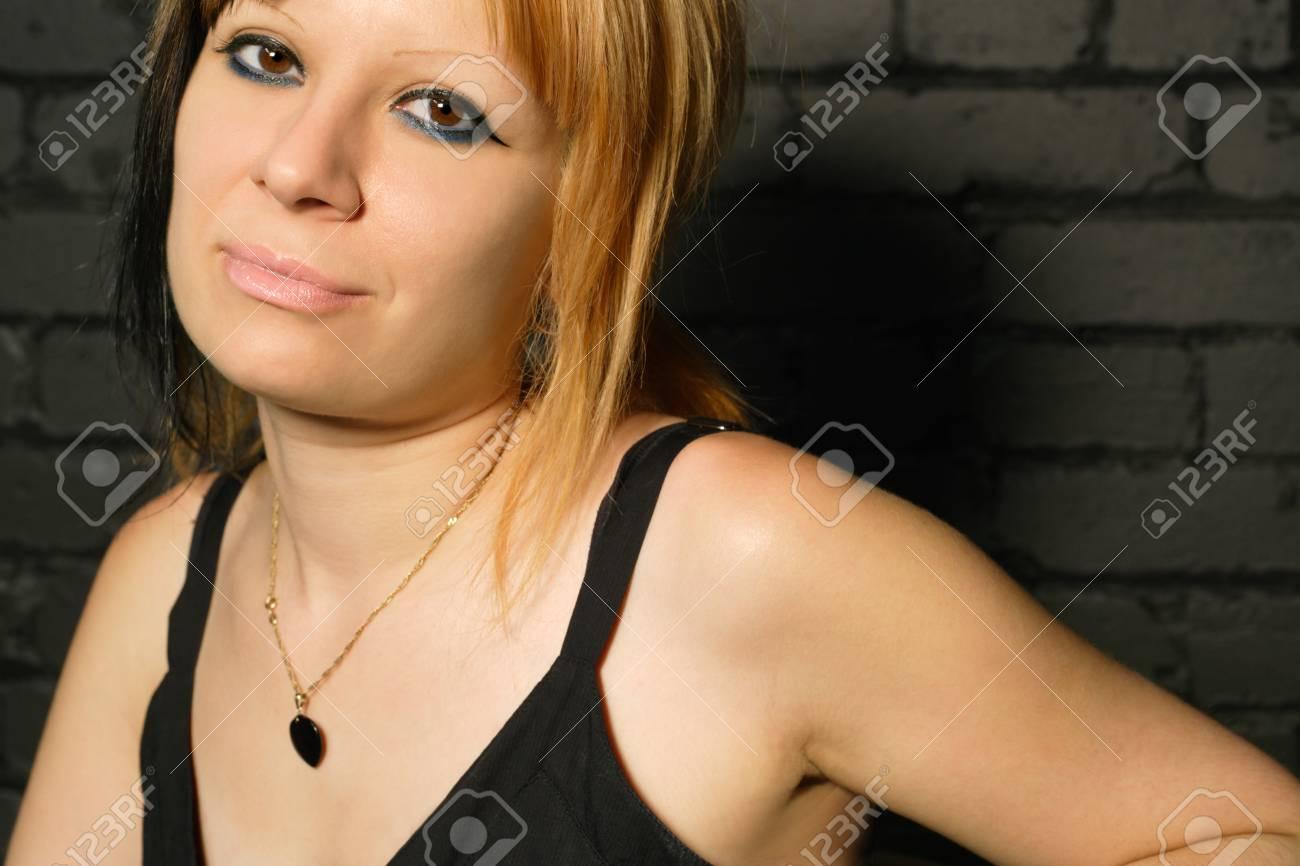 Cristine smiling in the nightclub. Stock Photo - 1440761