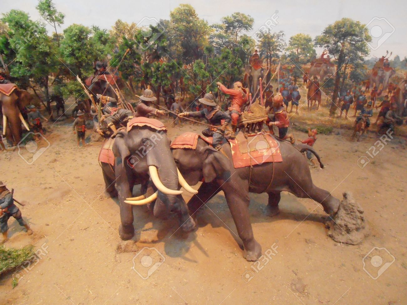 21747283-Model-of-War-Elephant-Thailand-