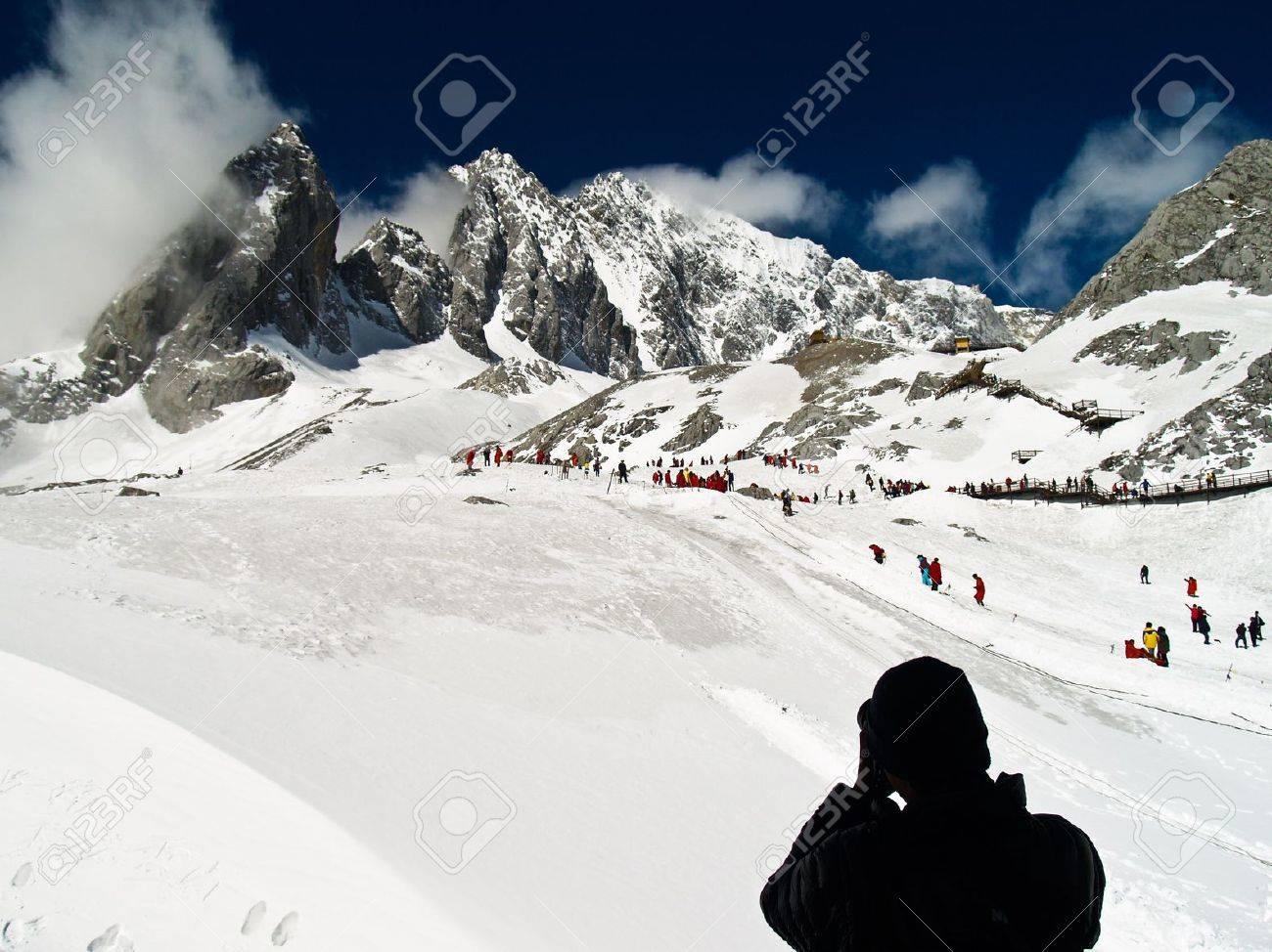 Jade Dragon Snow Mountain in LiJiang, Yunnan Province, China Stock Photo - 13872887