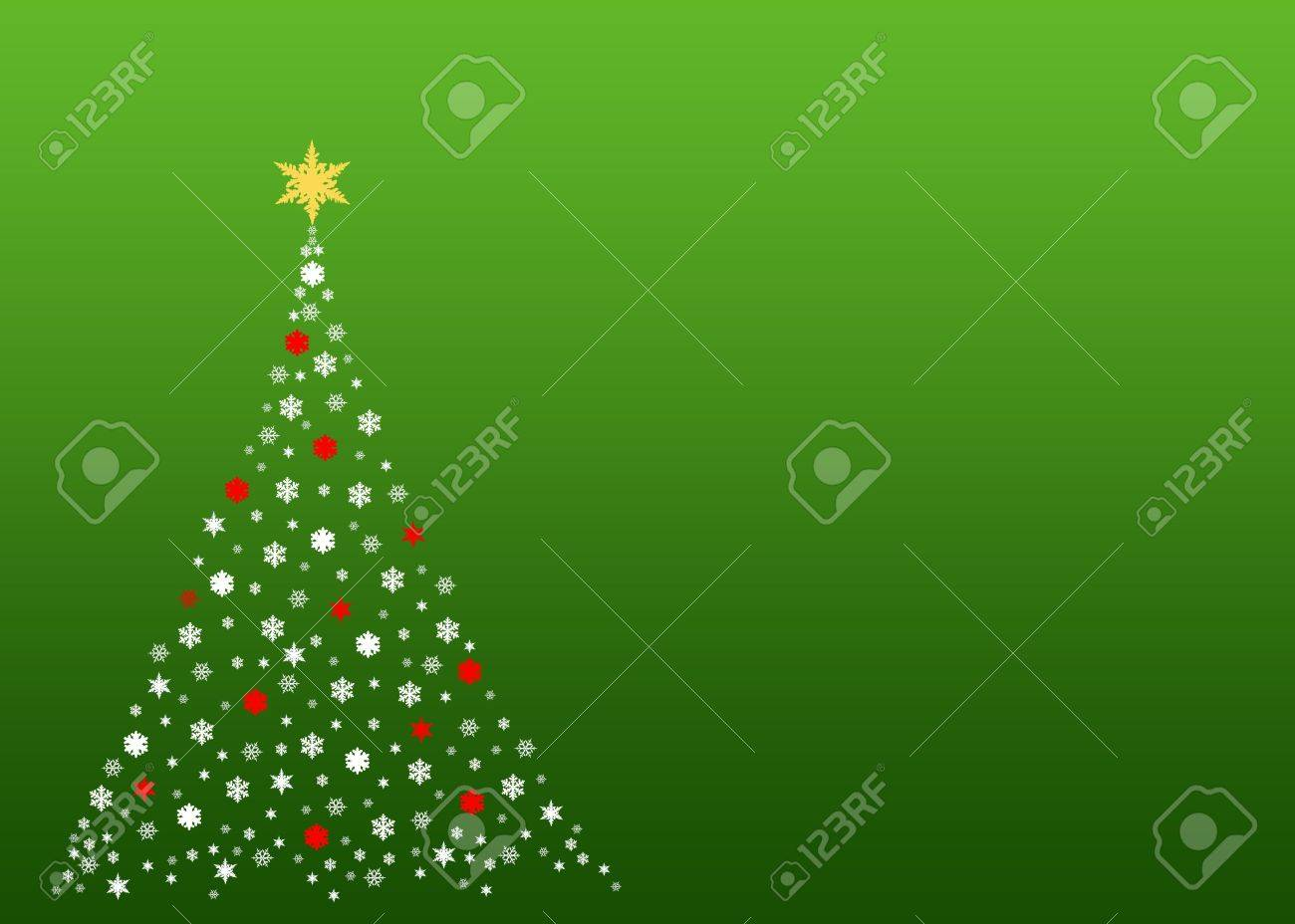 An illustration of a christmas tree formed by white symbols made out of real snowflakes Stock Photo - 2948342