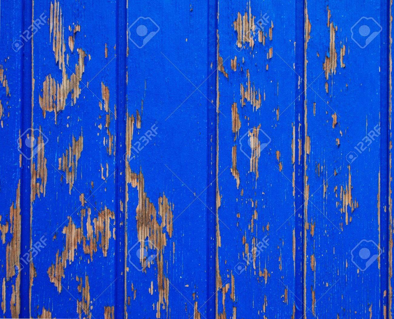 Blue painted wood background, flaky paint Stock Photo - 9857031
