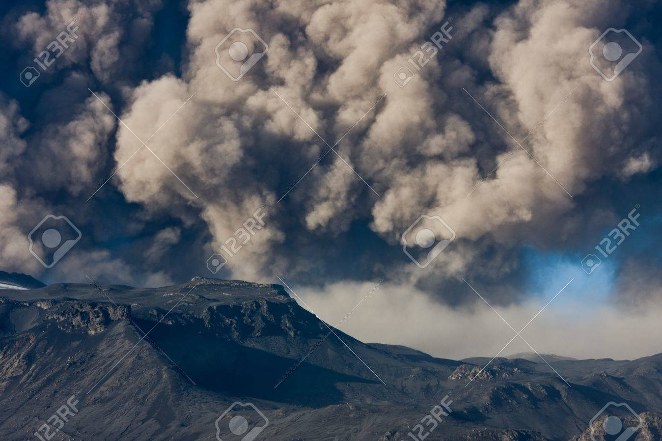 Ash fallout from eruption Stock Photo - 14590716