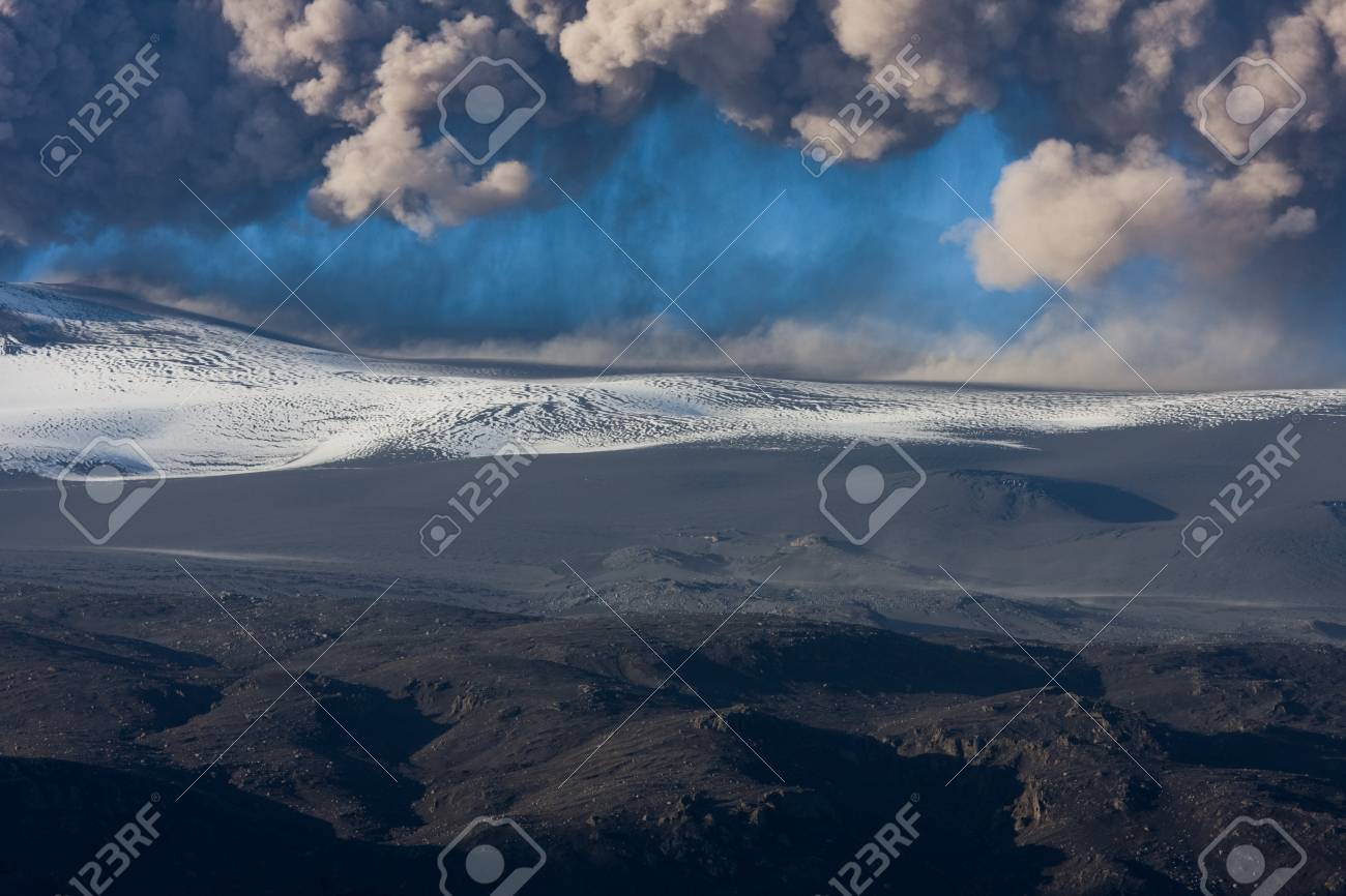 Ash fallout from eruption Stock Photo - 14590718