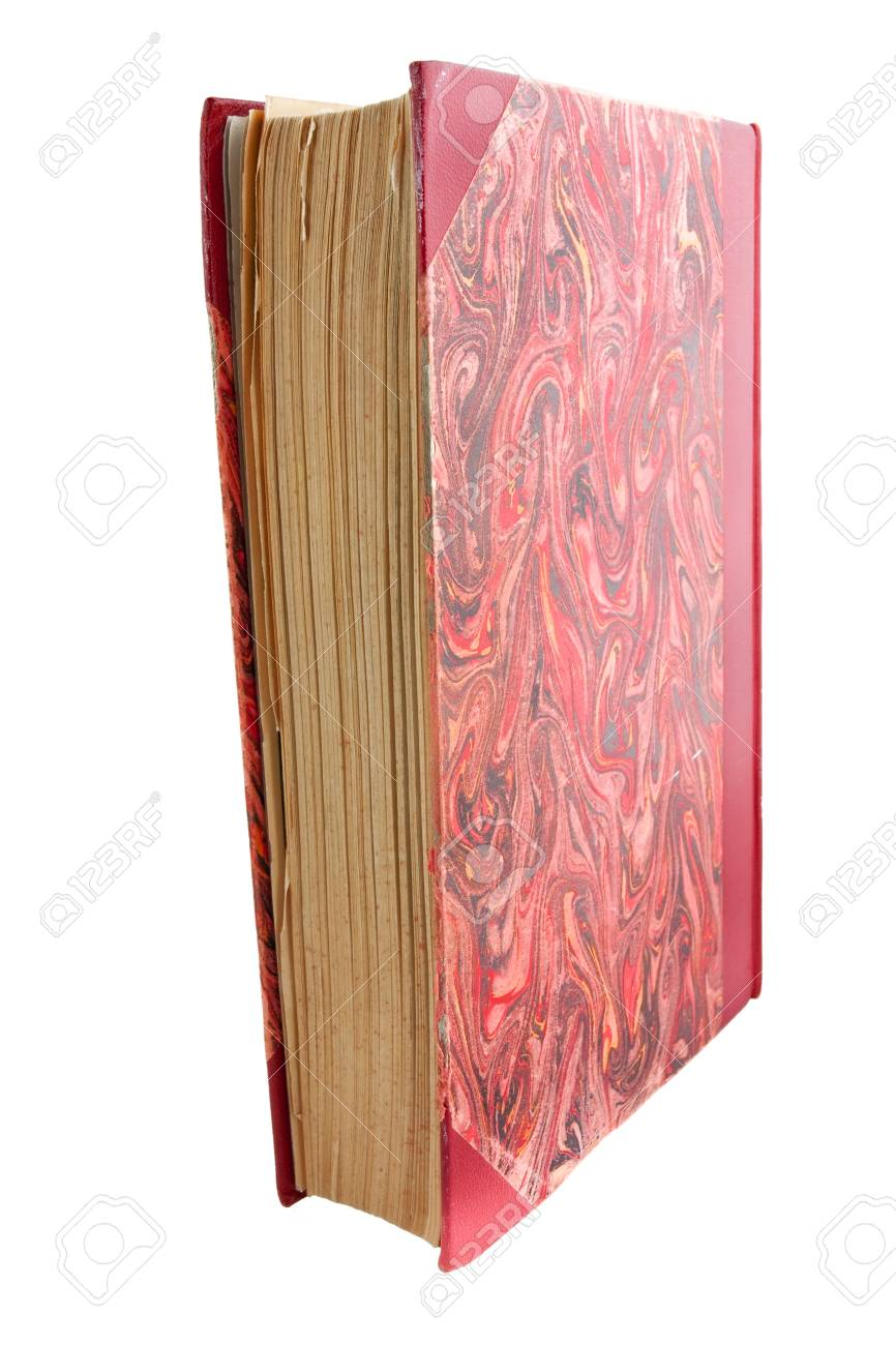 Antique book isolated on white Stock Photo - 9856619