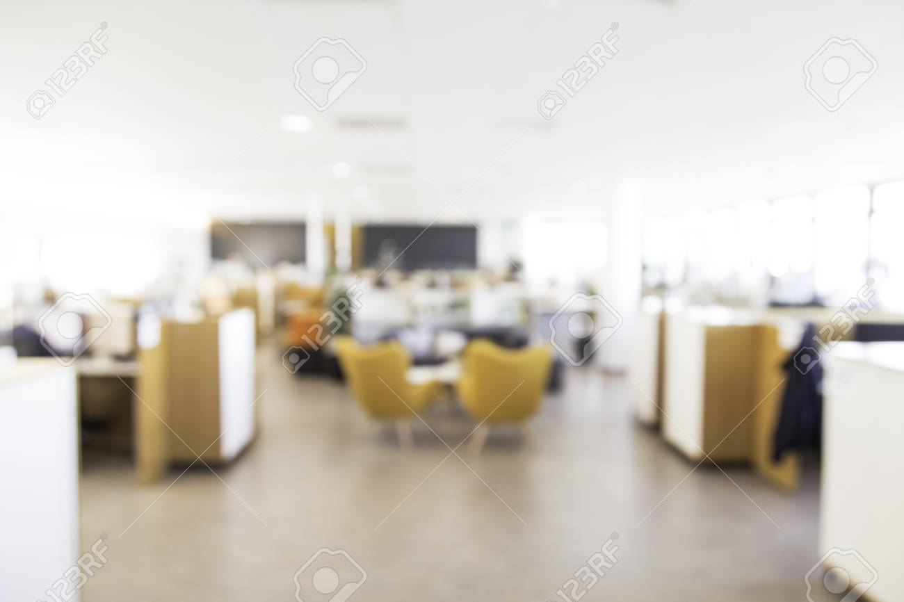 office backdrop. Blurry Office Background, Perfect To Use For Backdrop In Advertisements Or Other Designs Stock Photo A