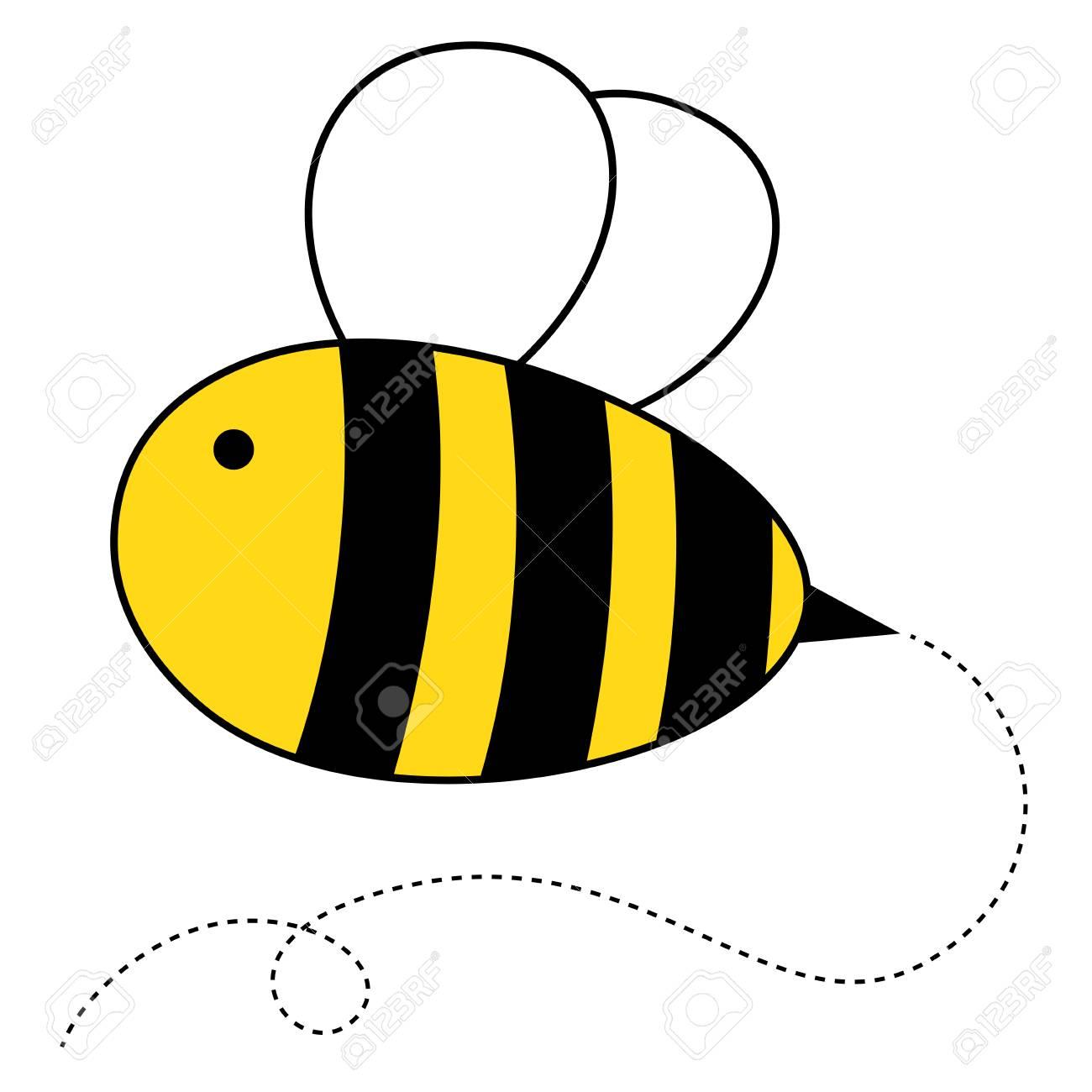 cute cartoon honey bee vector illustration royalty free cliparts rh 123rf com bee vector drawing bee vector free