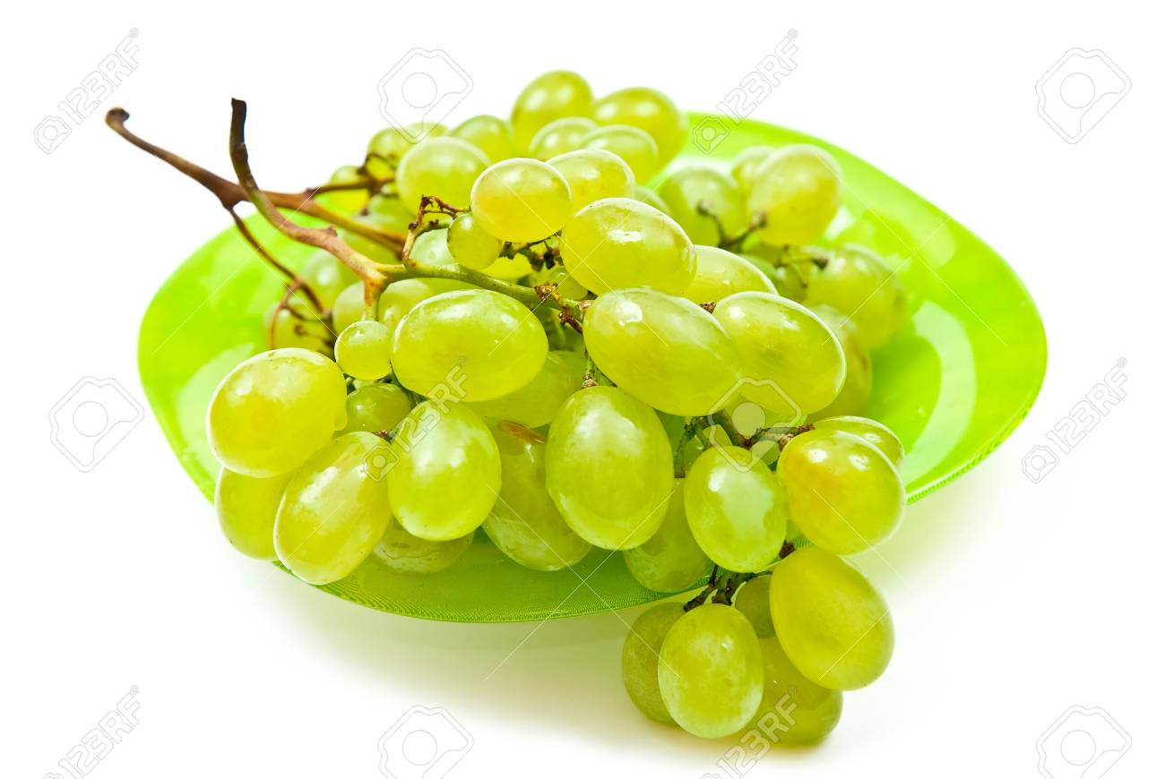 Green grape isolated on white background Stock Photo - 7680911