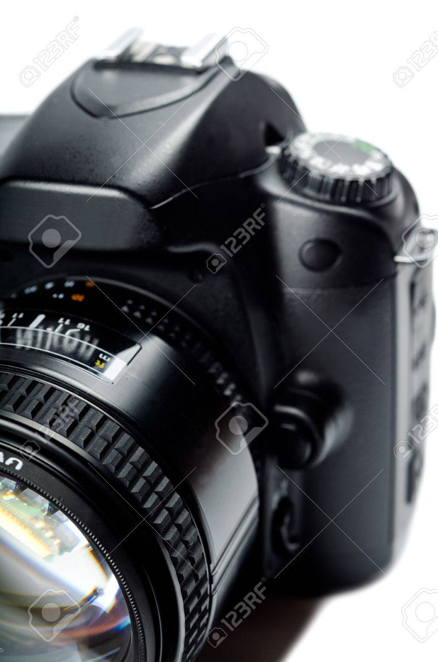 Close up of a digital camera. Studio shot Stock Photo - 12627112