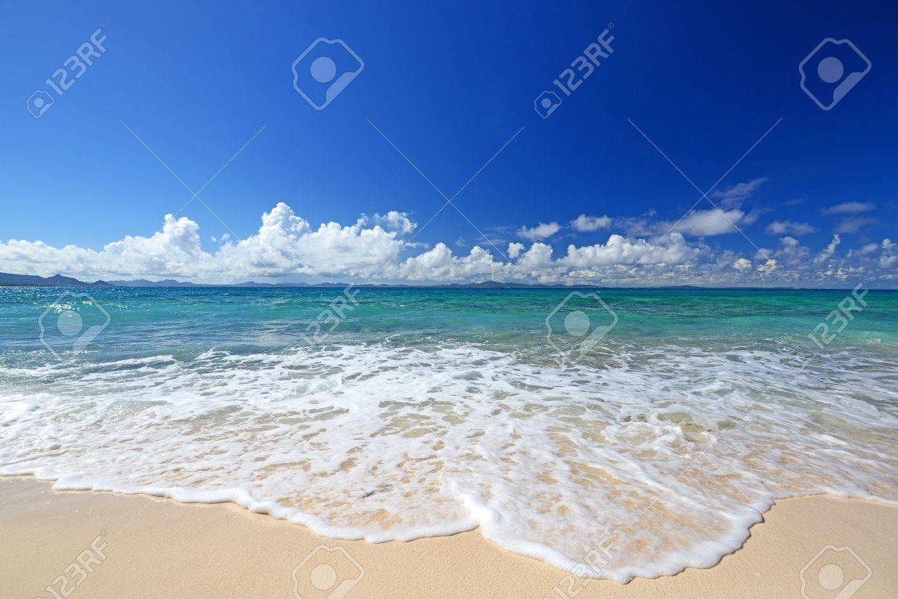 Gorgeous Beach in Summertime Stock Photo - 15103173