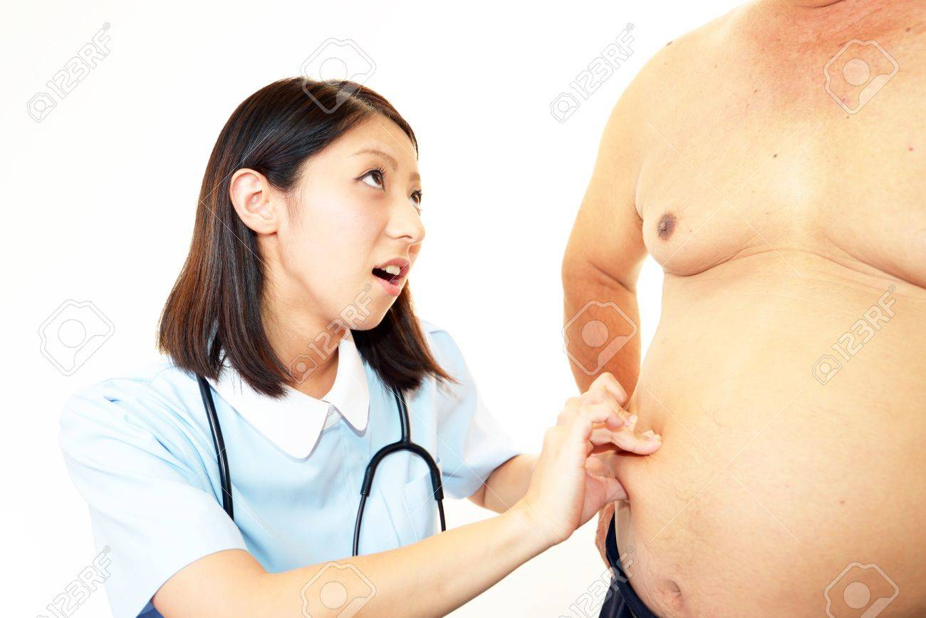 Nurse with an examination of obese patients Stock Photo - 15585637