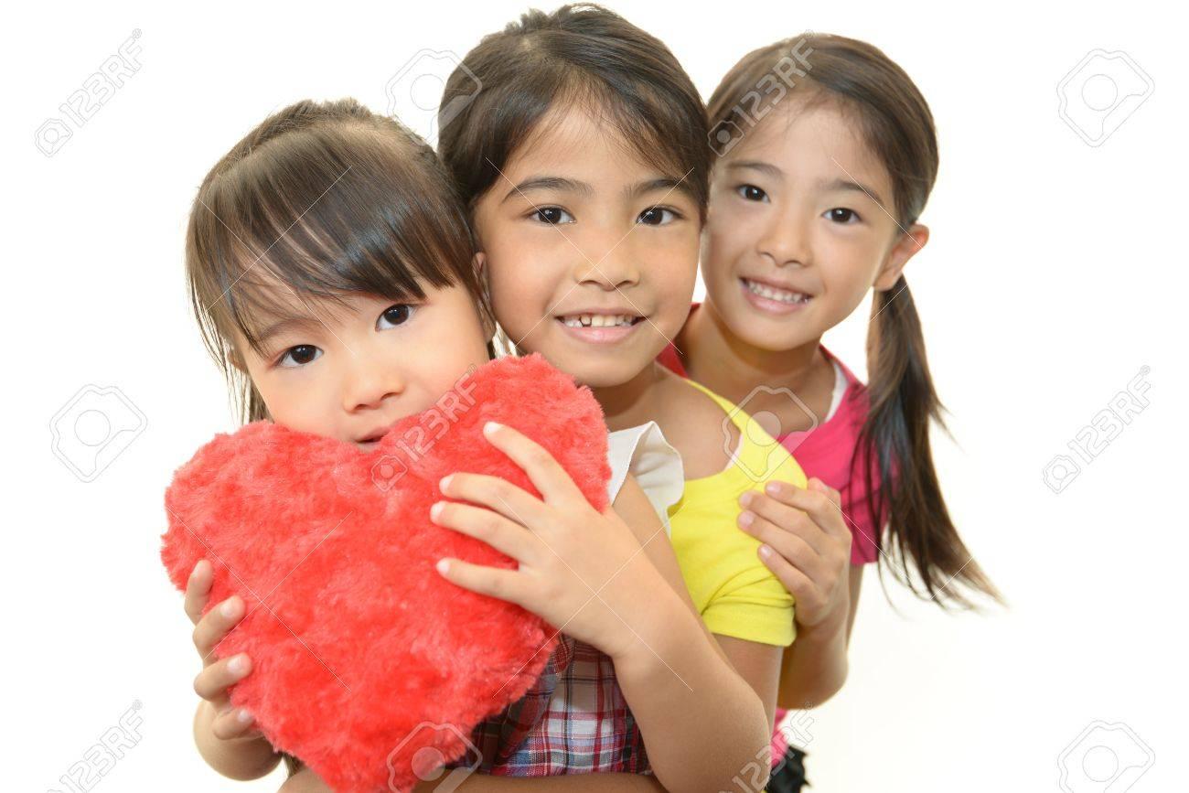 Happy little asian girls smile Stock Photo - 15648058