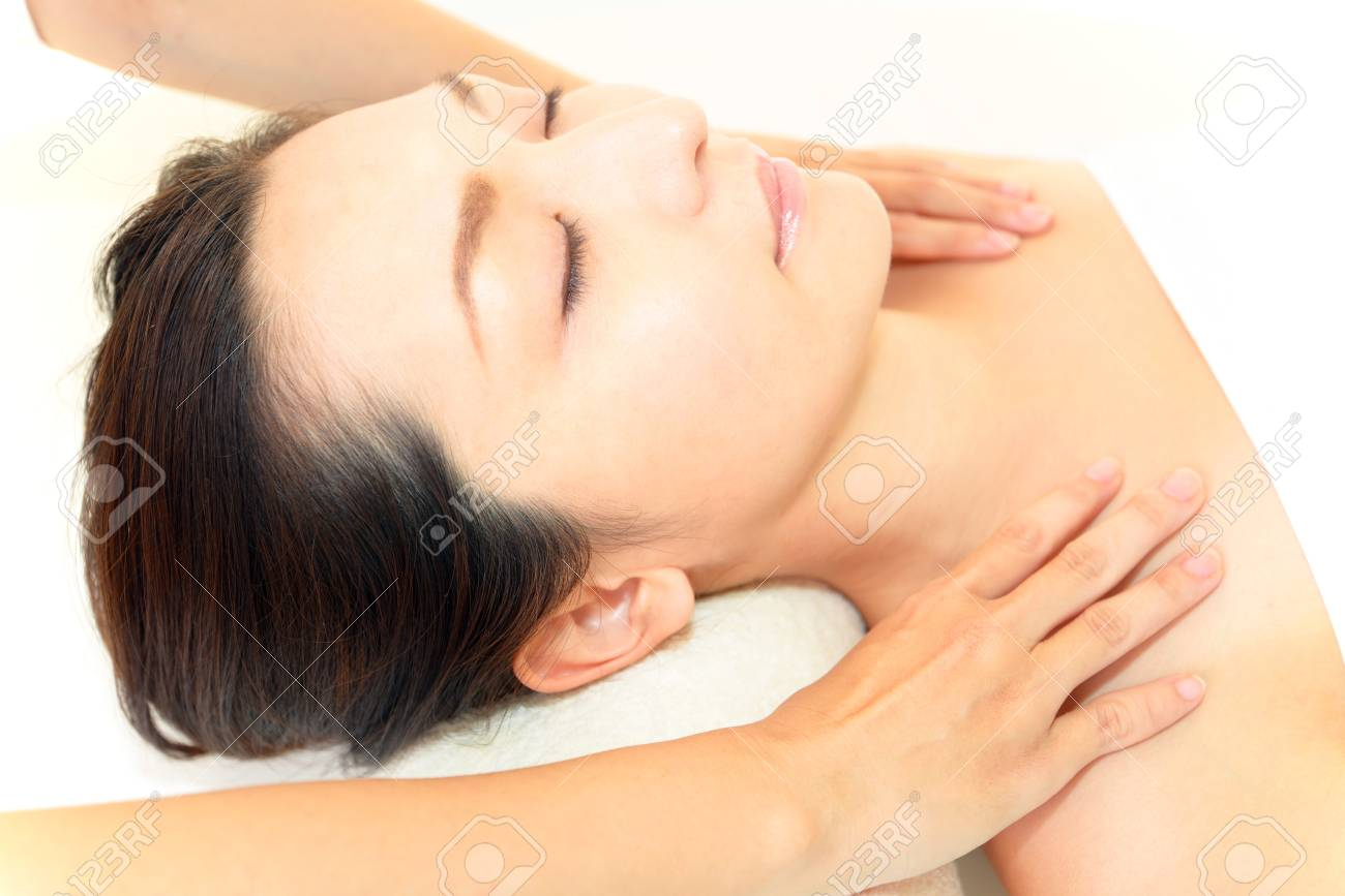 Smiling woman at massage spa Stock Photo - 15748452
