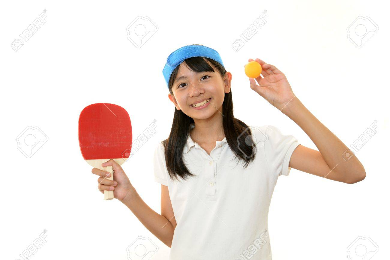 The girl who plays table tennis Stock Photo - 16302324