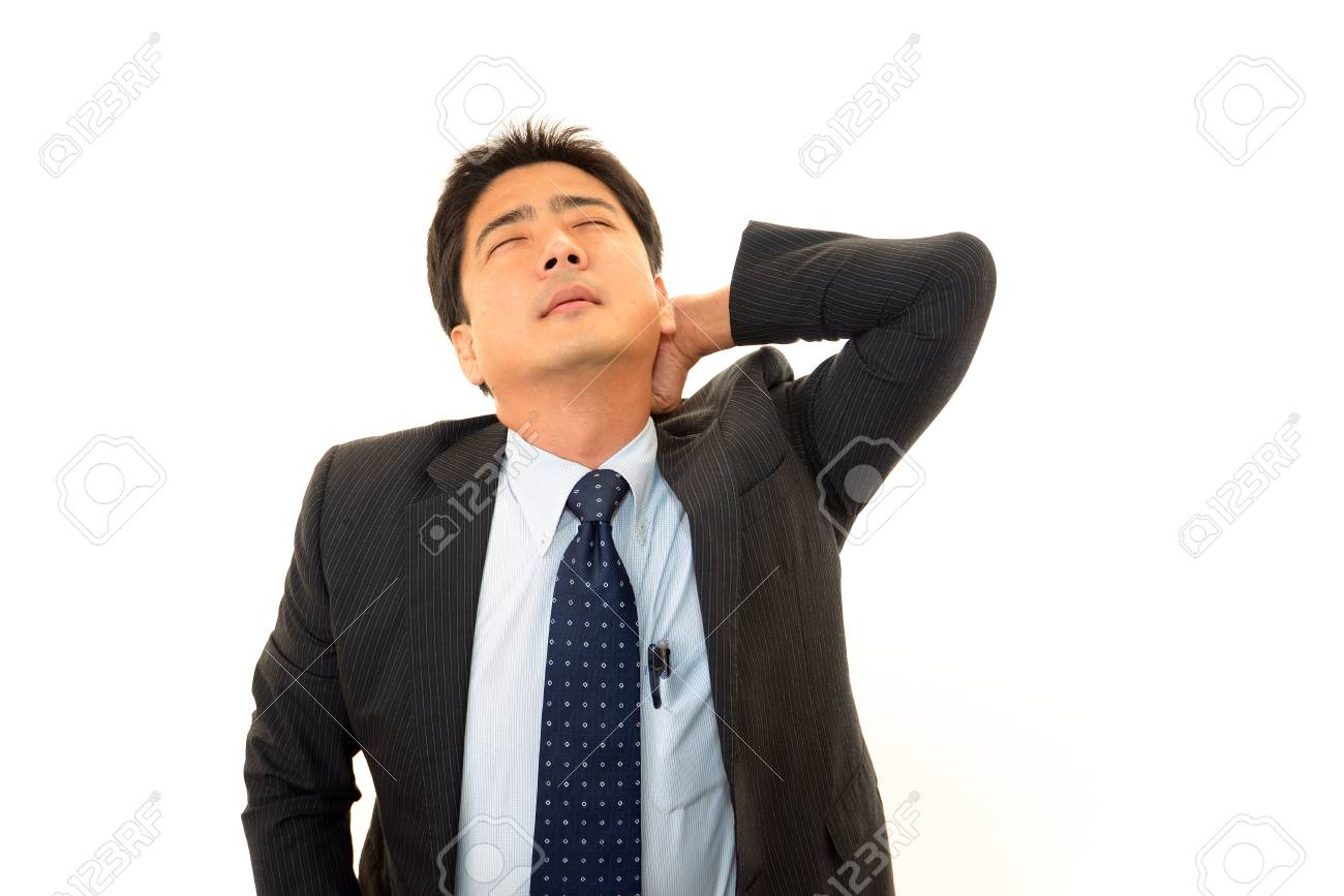 Stressed businessman Stock Photo - 16955625