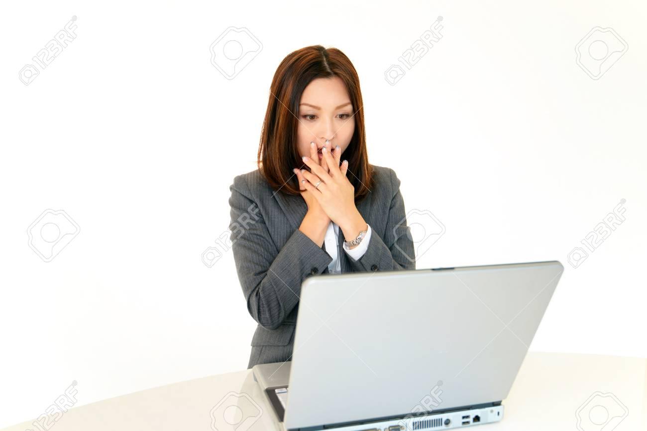 Women uneasy look Stock Photo - 17561613