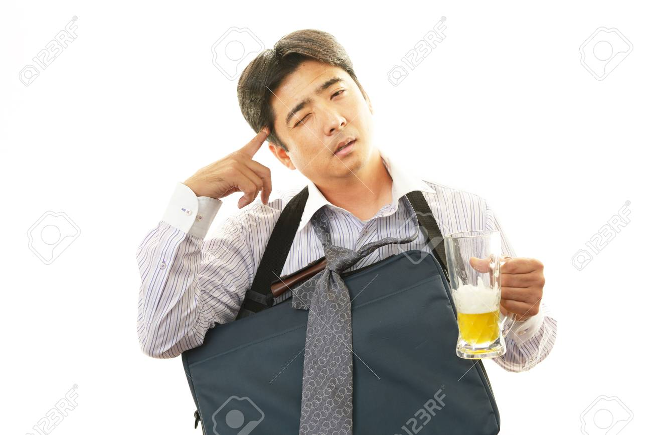 Portrait Of A Drunk Man Stock Photo Picture And Royalty Free Image