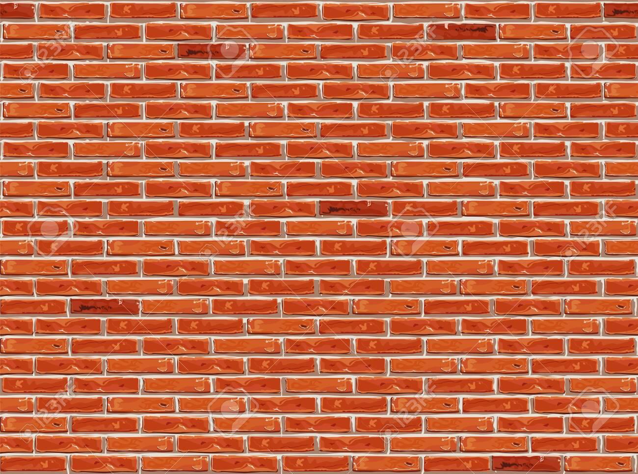 Red brick wall pattern seamless background. - 146967983