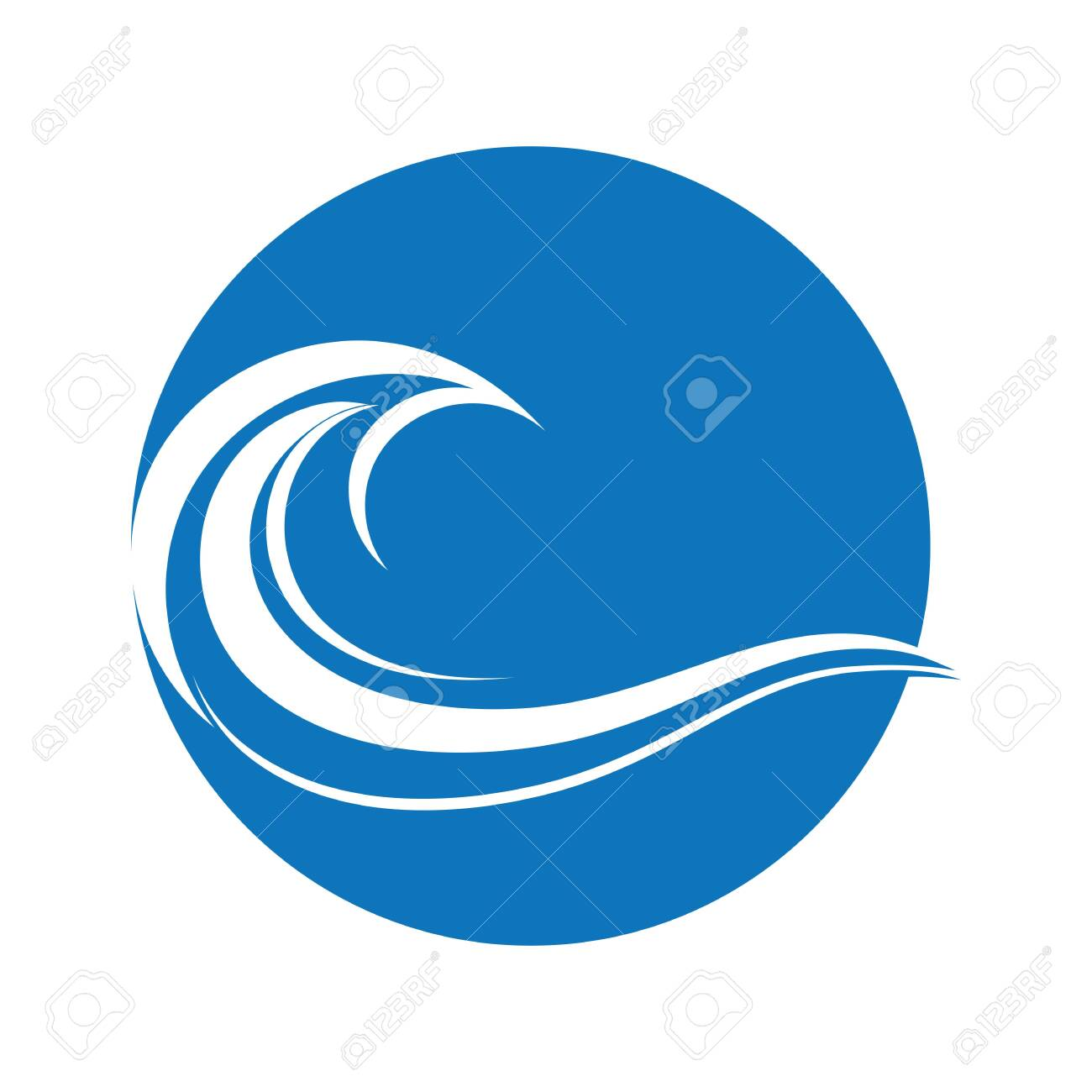 Water Wave symbol and icon Logo Template vector - 146661499