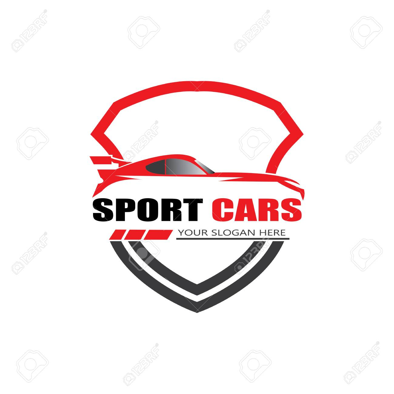sport car logo template design vector - Vector - 146927986