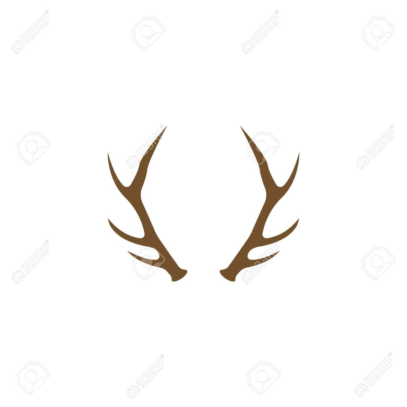 Deer Antlers Logo Template Illustration Design. - 148323945