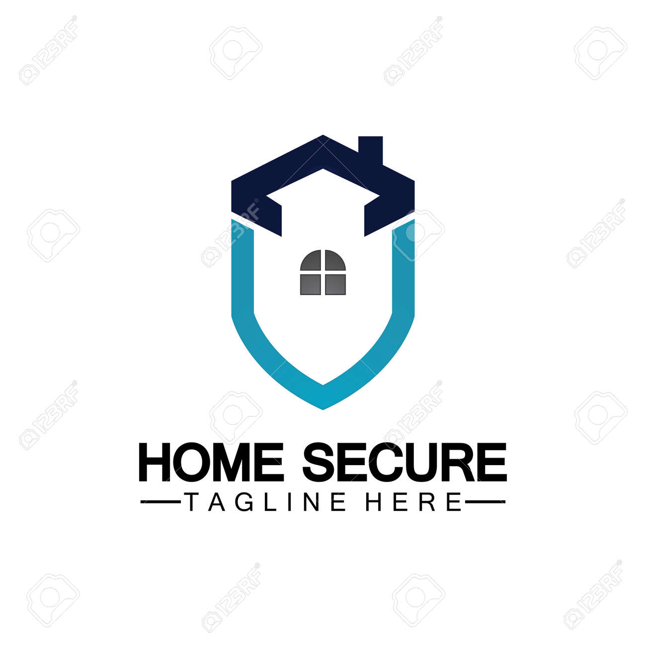 Home secure logo, smart house logo design,Home protection logo design template. Vector shield and house logotype illustration. - 168550070