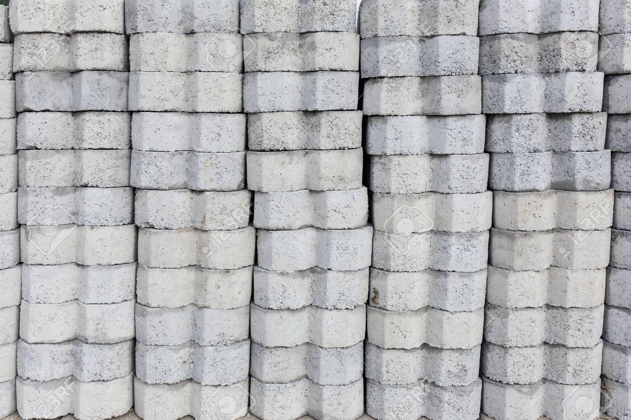 Bricks For Sale >> Handmade Gray Concrete Bricks For Sale At An Outdoor Brickyard