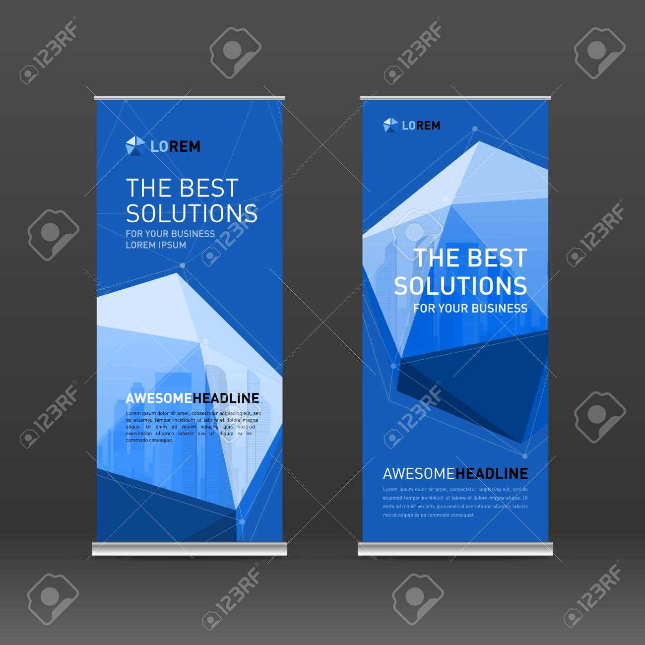 Roll Up Banner Design Layout Vertical Banner Design Template