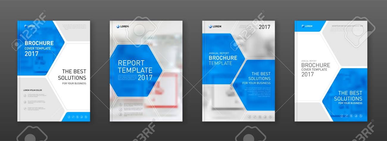 medical brochure cover templates set applicable for annual report
