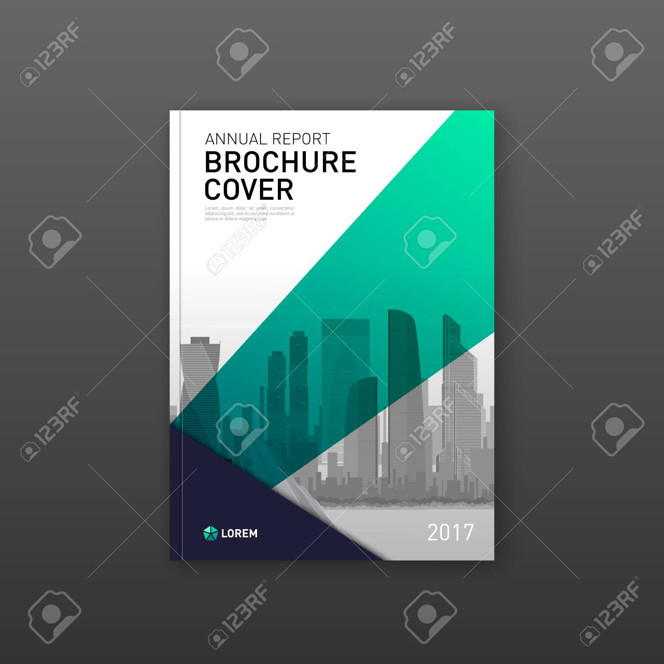 Brochure cover design template for construction or investment