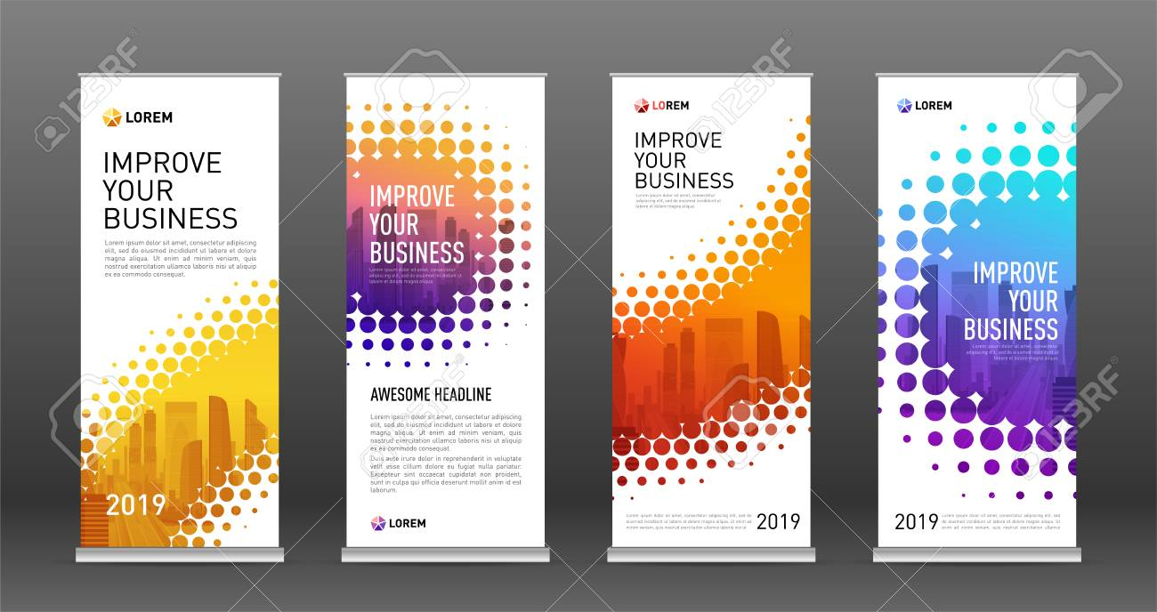 Real Estate Roll Up Banners Design Templates Set Vertical Banner Royalty Free Cliparts Vectors And Stock Illustration Image 116027521