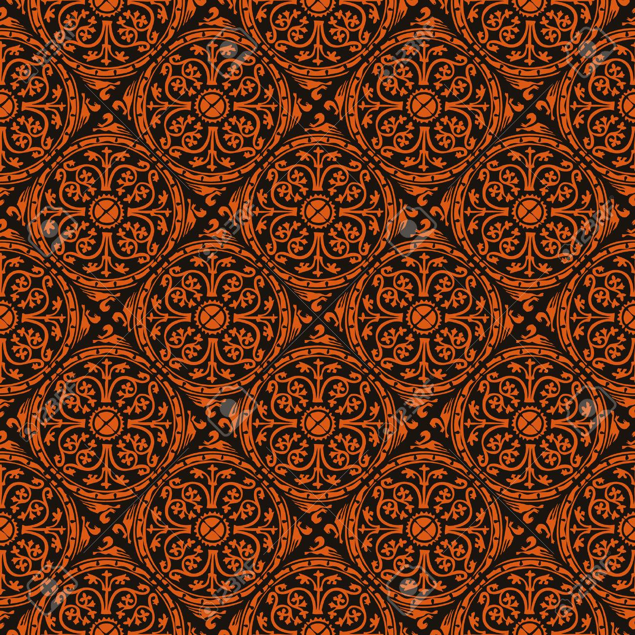 seamless red gothic wallpaper Stock Vector - 8438382