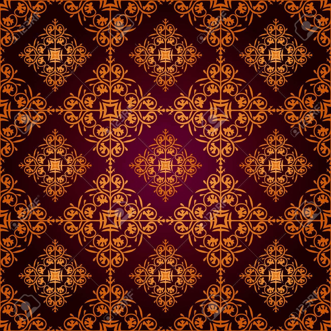 Seamless Gothic Wallpaper Stock Vector