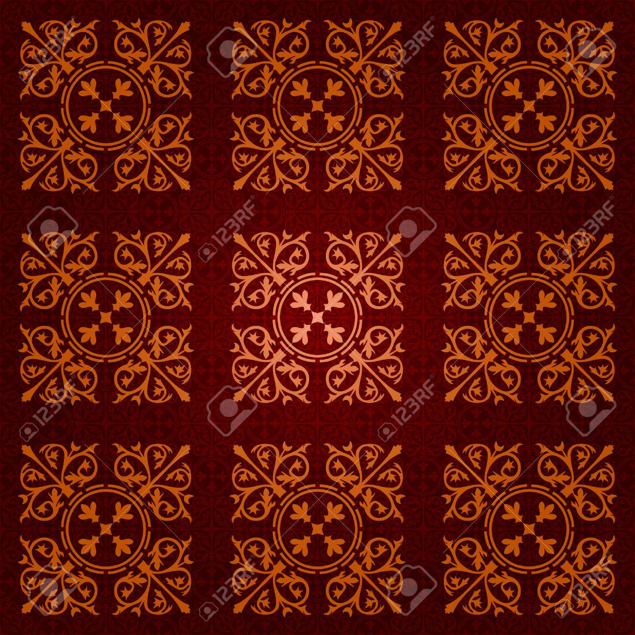 seamless gothic wallpaper Stock Vector - 8438506