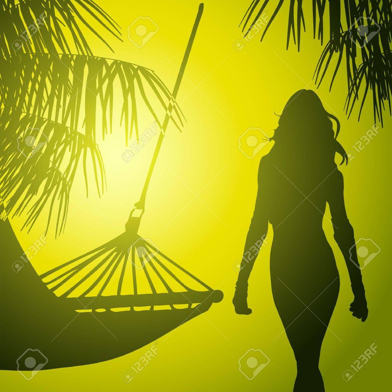tropic beach in jungle Stock Vector - 11641782