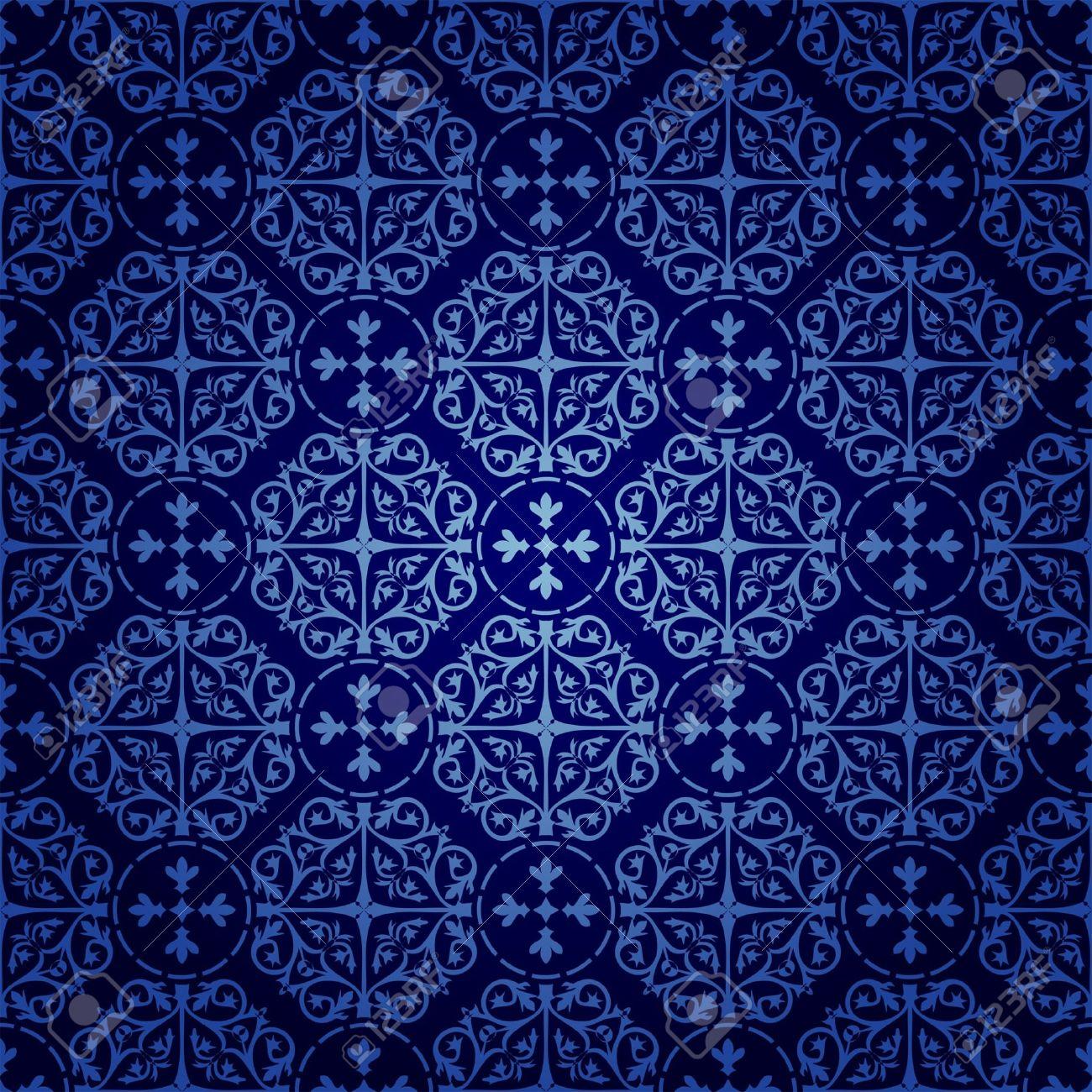 シームレスなゴシック様式の壁紙のイラスト素材 ベクタ Image 14072732