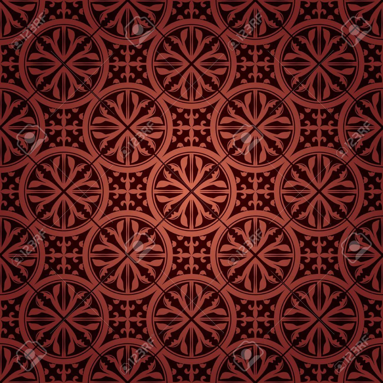 シームレスなゴシック様式の壁紙のイラスト素材 ベクタ Image 14970430