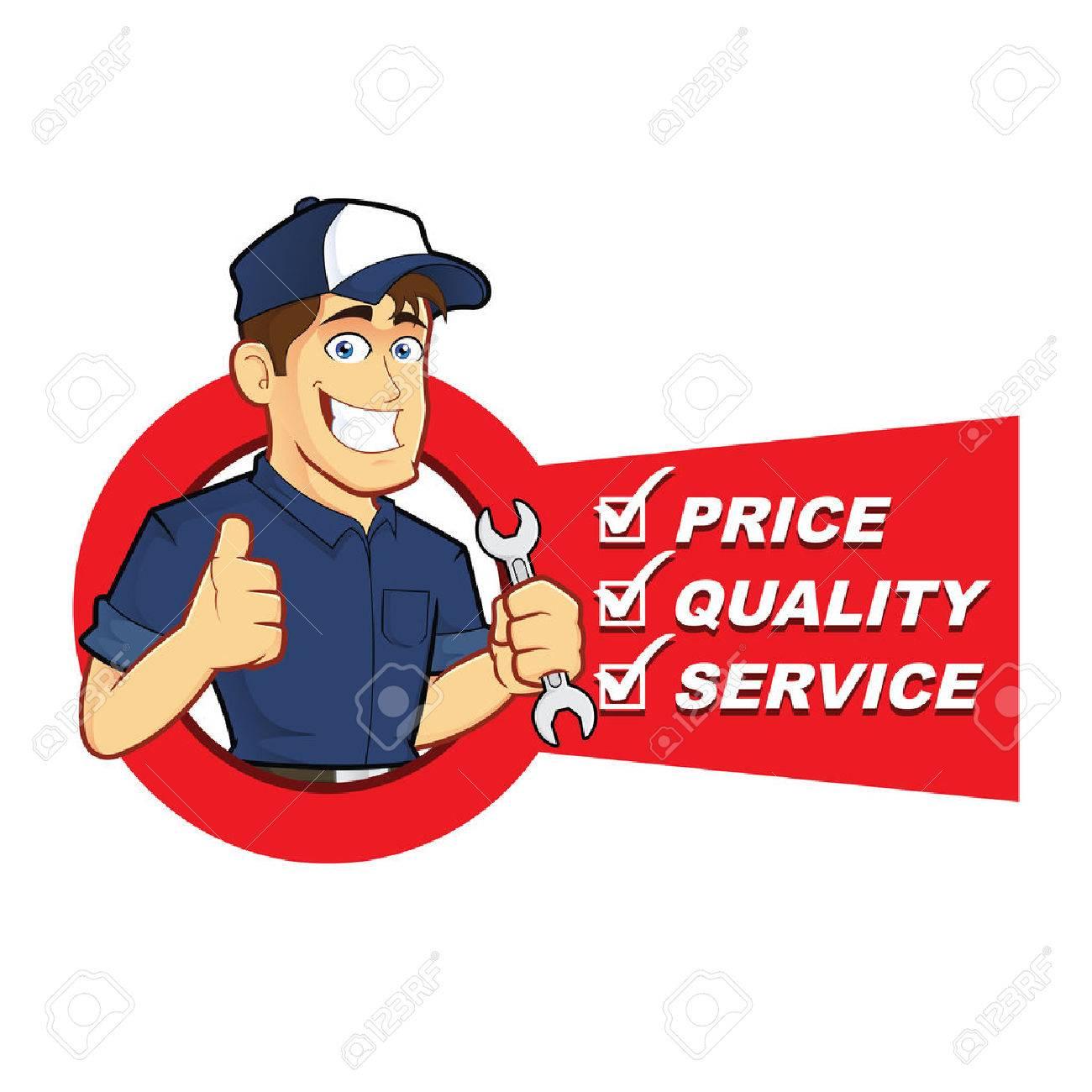Free handyman price list - Mechanic With Service List Stock Vector 33039083