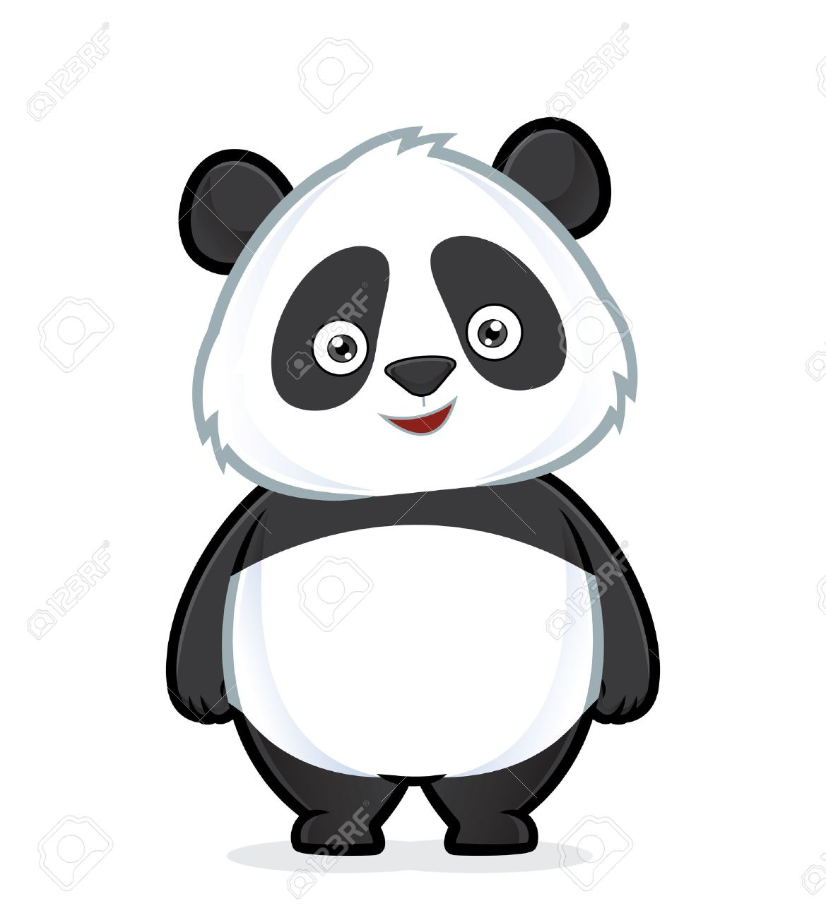 panda standing royalty free cliparts vectors and stock